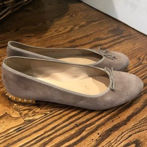 J. Crew Shoes - J Crew gray suede flat